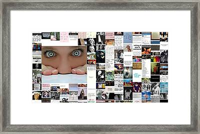 Eyes Watching Framed Print by Holley Jacobs