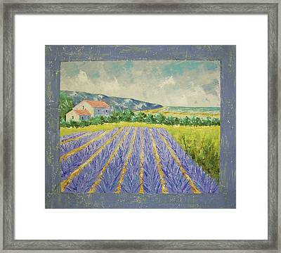 Eze Lavender South Of France Framed Print by Frederic Payet