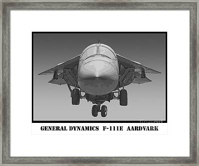 F-111e Aardvark Drawing Framed Print by Tim Mulina