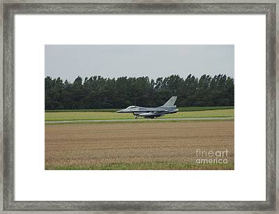 F-16 Of The Belgian Air Force Ready Framed Print