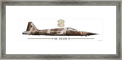 F-5e Vfc-13 Tail 07 Framed Print by Clay Greunke