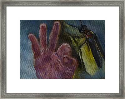 F Is For Firefly Framed Print