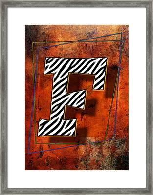 F Framed Print by Mauro Celotti