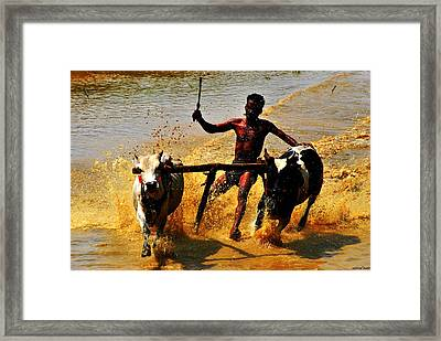 F1--before The Mean Machines Framed Print by Vinod Nair