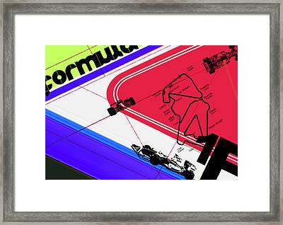F1 Framed Print by Naxart Studio