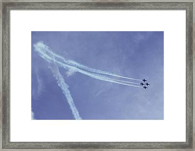 F16s In Formation Framed Print