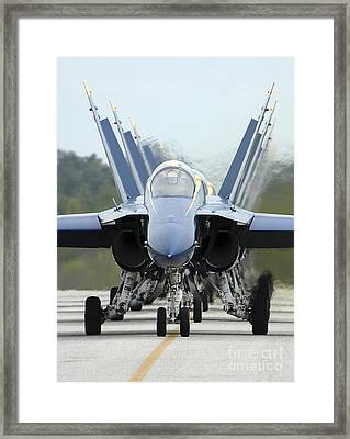 Fa-18a Hornets Assigned To The Blue Framed Print