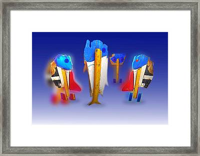 Fab Four Framed Print by Charles Stuart