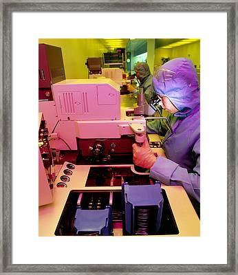 Fabrication Of Silicon-b2ased Integrated Circuits Framed Print by David Parkerseagate Microelectronics Ltd