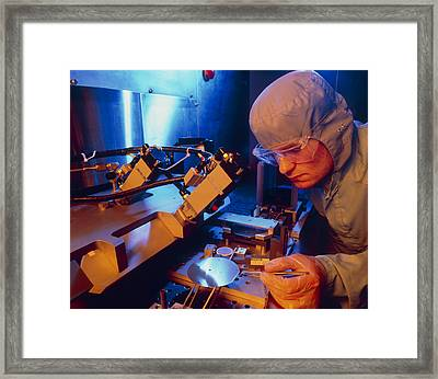 Fabrication Of Silicon-based Integrated Circuits Framed Print by David Parkerseagate Microelectronics Ltd