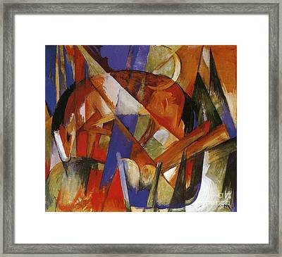 Fabulous Beast II Framed Print by Franz Marc