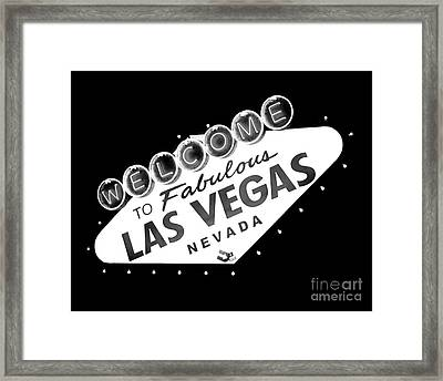Fabulous Las Vegas Framed Print by Kate McKenna