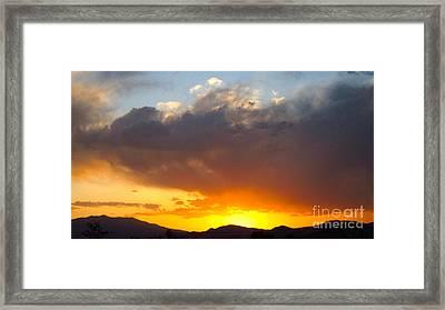 Fabulous Sunset Framed Print by Phyllis Kaltenbach