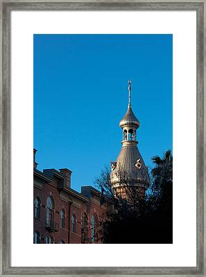 Framed Print featuring the photograph Facade And Minaret by Ed Gleichman