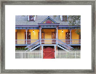 Facade Of Plantation Slave Quarters Framed Print by Jeremy Woodhouse