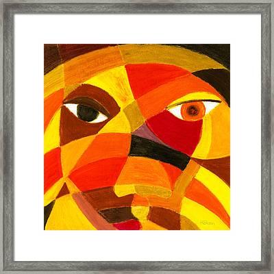 Face 45 Framed Print by Hakon Soreide