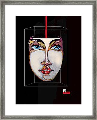 Face In A Box Framed Print by Tim  Conroy