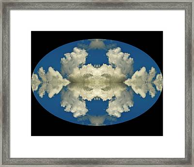 Face In Clouds At The Air Race Framed Print by Russ Lopez