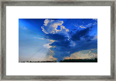 Face In The Cloud Framed Print by Nancie DeMellia