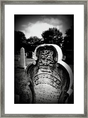 Face In The Grave Framed Print