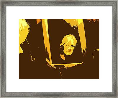 Face In The Mirror Framed Print by Anne Mott