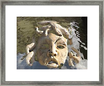 Face In Woter Framed Print