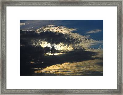 Face Of A Storm Framed Print