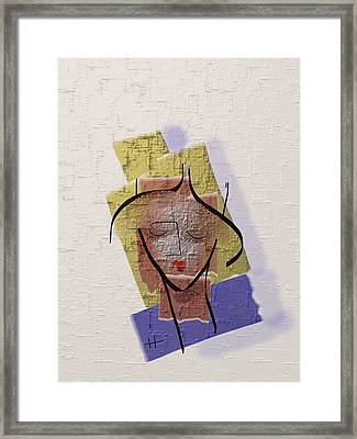 Face Of My Body Framed Print by Hayrettin Karaerkek
