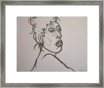 Face Of Nude Woman Framed Print