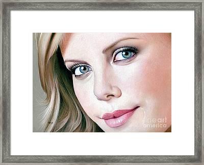 Face Of Symmetry Framed Print by Karen Hull