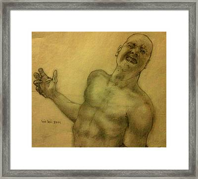 Face One Framed Print by Luis  Leon