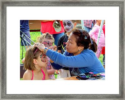 Face Painting 2010 Framed Print