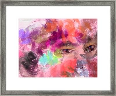 Face Framed Print by Terri Johnson