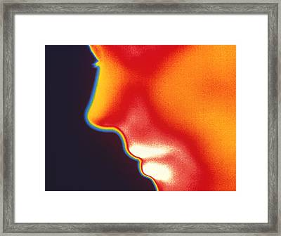 Face Thermogram Framed Print by Tony Mcconnell
