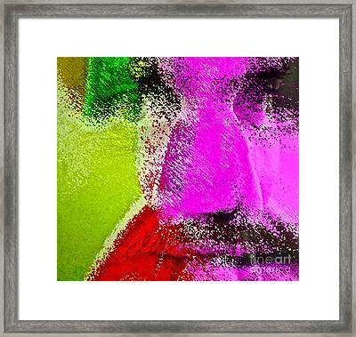 Face To Face Framed Print by Gwyn Newcombe