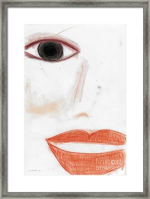 Framed Print featuring the photograph Face by Vicki Ferrari