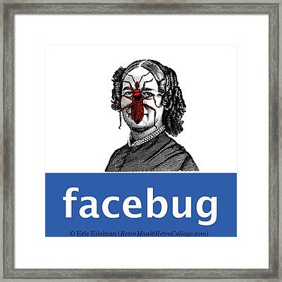 Facebug For Women Framed Print by Eric Edelman