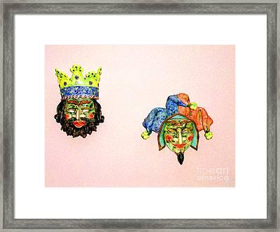 Faces Framed Print by Al Bourassa