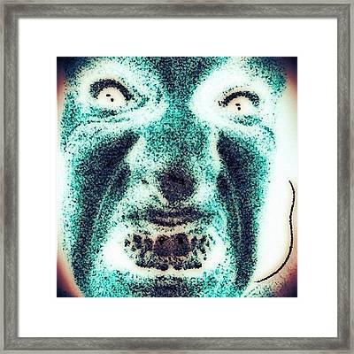 Faces In The Dark #art #dark  #instapic Framed Print