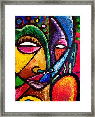 Faces Framed Print by Kevin McDowell