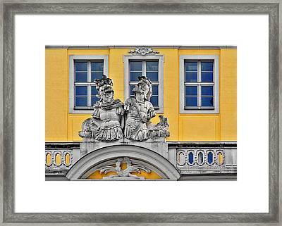 Faces Of Places In Dresden Framed Print by Christine Till
