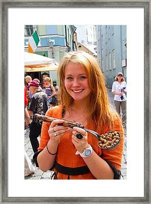 Faces Of Tallinn Estonia Framed Print