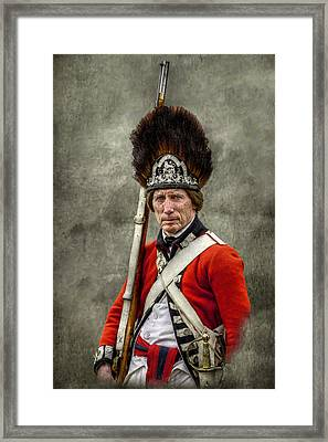 Faces Of The American Revolution British Soldier Portrait Framed Print by Randy Steele