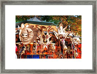 Faces Of The Times Framed Print by Barry R Jones Jr