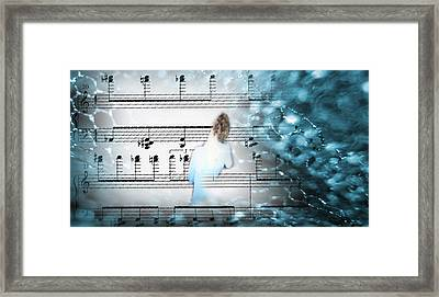 Facing The Music Framed Print by Catherine Morgan