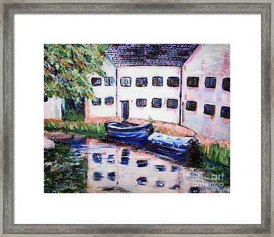Factory On The River Framed Print