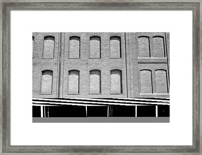 Factory Windows Bricked Framed Print