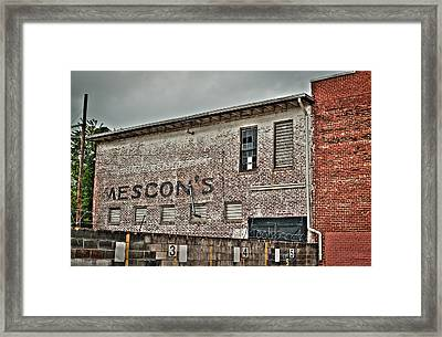 Faded Facade Framed Print