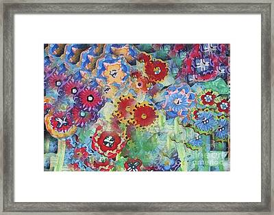 Fading Flower Power Framed Print by Marilyn West