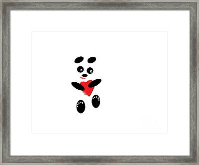 Fading Like A Flower. Panda In Love. #01 Framed Print by Ausra Huntington nee Paulauskaite